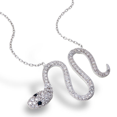 Sparkling Serpent Necklace
