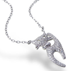Zirconia Kitten Necklace