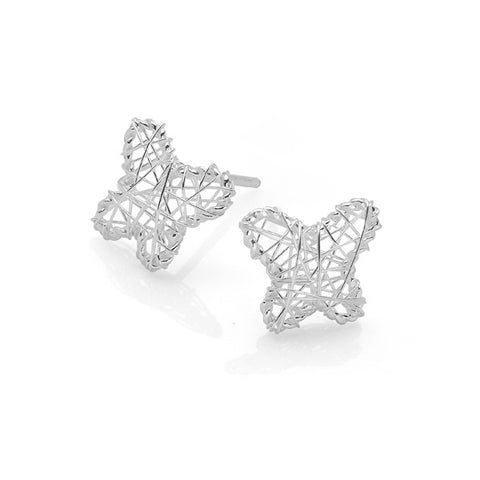 Embroidered Butterfly Studs