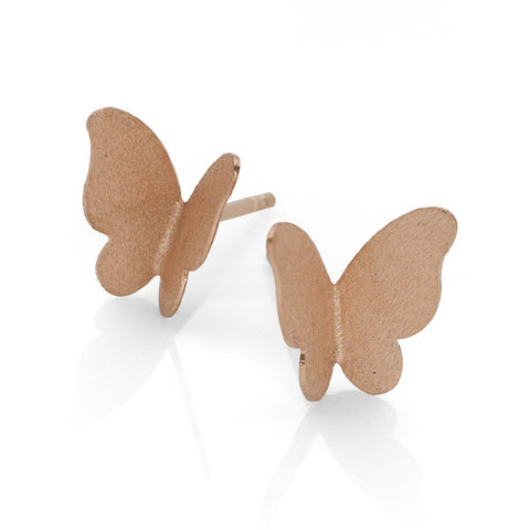Rose Gold Flutter Studs