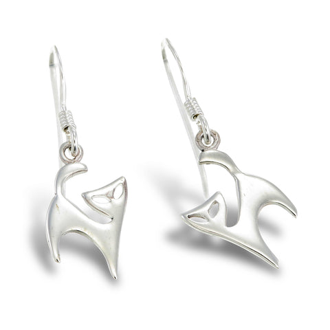 Silver Kitten Earrings