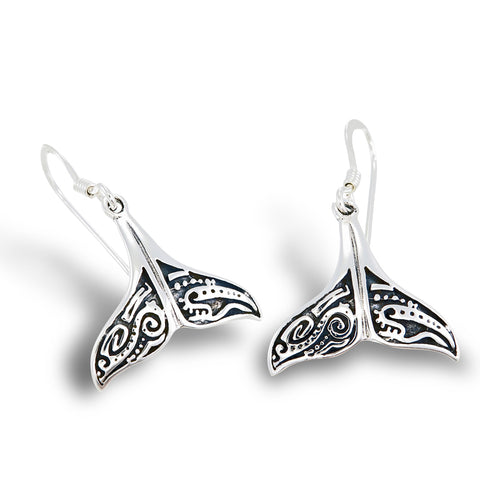 Maori Whale Tail Earrings