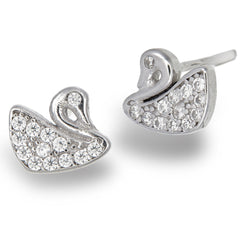 Delicate Swan Studs