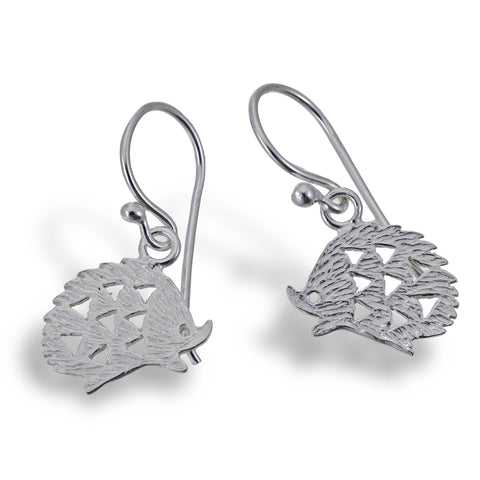 Silver Hedgehog Earrings