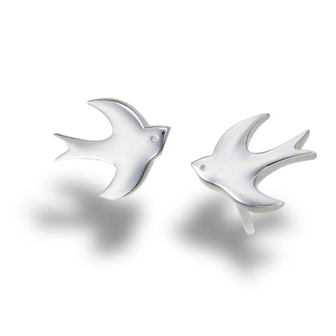 Silver Swallow Studs