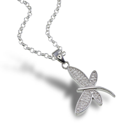 Shimmer Wings Dragonfly Pendant