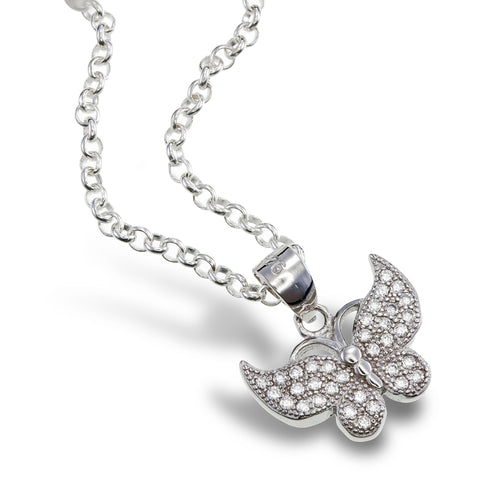 Night Sky Butterfly Pendant