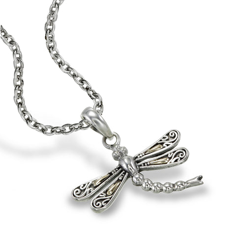 Golden Dragonfly Pendant - Small