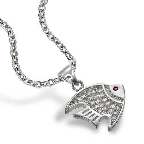 Zirconia Angelfish Pendant