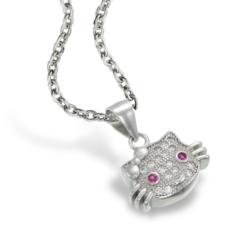 Pavé Kitty Pendant