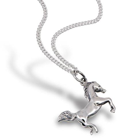 Silver Mustang Pendant