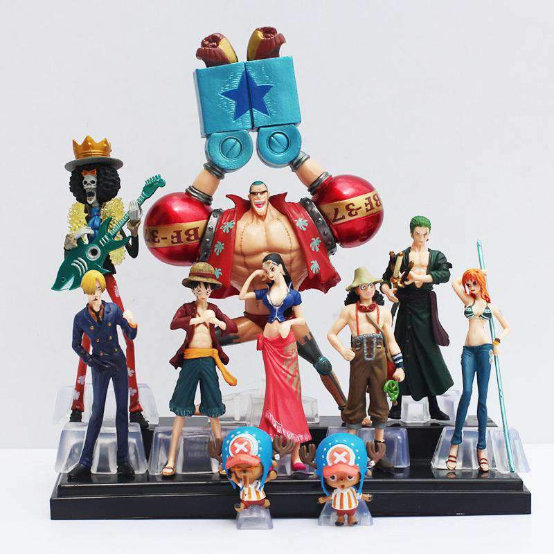 Lot de 10 figurines One Piece Crew