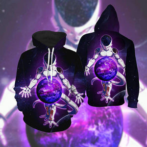 Pull à capuche 3D All Over Dragon Ball Z Freeza Destruction