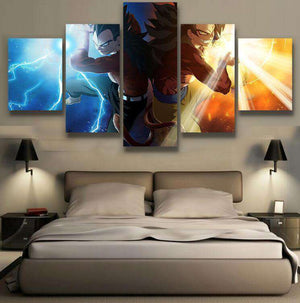 Canvas - Décoration Murale En 5 Pièces Dragon Ball GT Goku X Vegeta