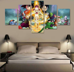 Canvas - Décoration Murale En 5 Pièces Dragon Ball Z Super