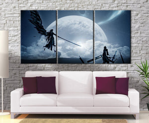 Canvas - Décoration Murale Final Fantasy 7 Cloud Vs Sephiroth