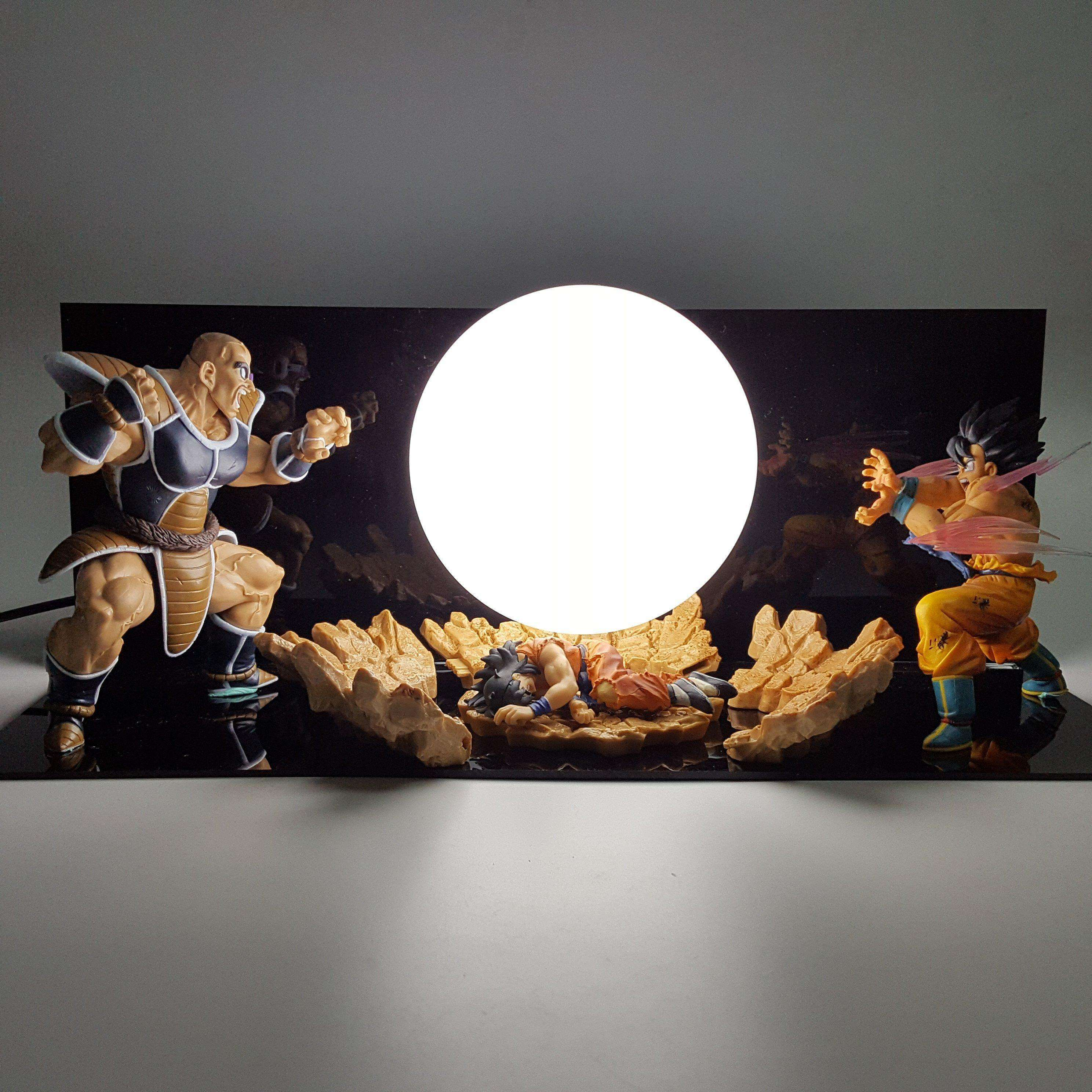 Lampes - Lampe Dragon Ball Z Goku Vs Nappa
