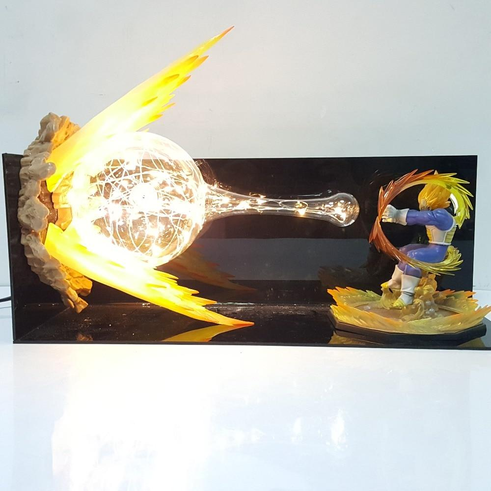 Lampes - Lampe Dragon Ball Z Vegeta Super Saiyan Attaque Finale