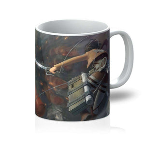 Mug - Mug Attack On Titans Mikasa Vs Colossal Titan