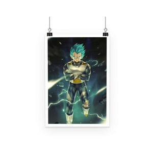 Poster - Poster Dragon Ball Super Vegeta Super Saiyan Blue God
