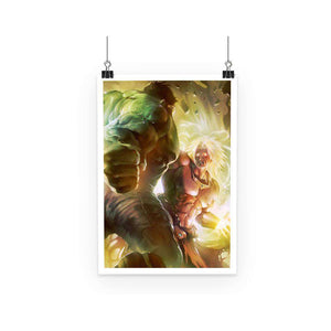 Poster - Poster Dragon Ball Z Broly Vs Hulk