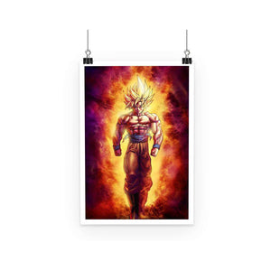 Poster - Poster Dragon Ball Z Goku Fire