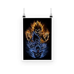 Poster - Poster Dragon Ball Z Vegeta Evolution 2
