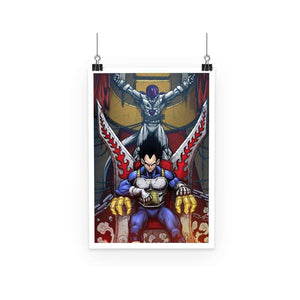Poster - Poster Dragon Ball Z Vegeta Throne