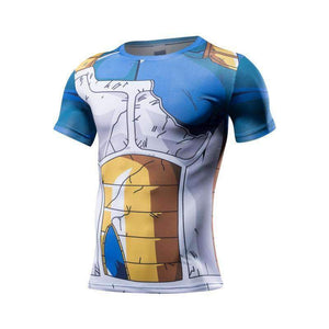 Tenue DBZ - T Shirt 3D All Over Dragon Ball Z Vegeta Damaged