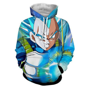 Pull à Capuche 3D - Pull à Capuche 3D All Over Dragon Ball Super Vegeta