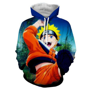 Pull à Capuche 3D - Pull à Capuche 3D All Over Naruto Kid