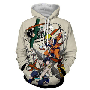 Pull à Capuche 3D - Pull à Capuche 3D All Over Naruto X Hinata X Rock Lee