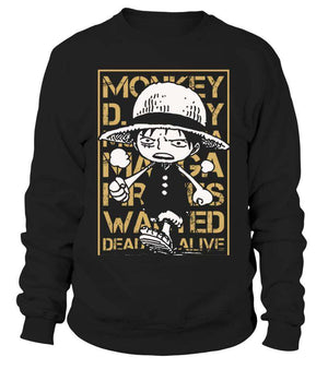 Pull Classique - Sweat Classique One Piece Luffy Wanted