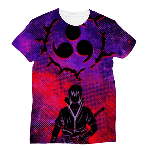 T Shirt All Over Nauto Sasuke Sharingan