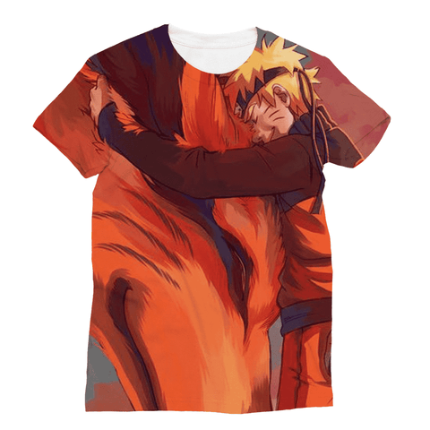 T Shirt All Over Naruto X Kyubi
