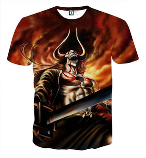 T Shirt 3D - T Shirt 3D All Over Bleach Ichigo Vasto Lorde Attack