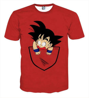 T Shirt 3D - T Shirt 3D All Over Dragon Ball Kid Goku