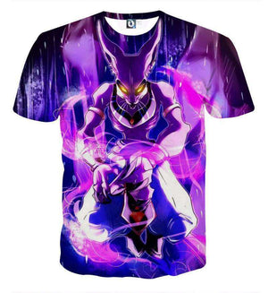 T Shirt 3D - T Shirt 3D All Over Dragon Ball Super Beerus