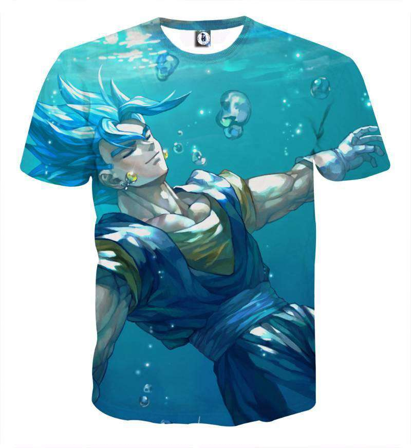 T Shirt 3D - T Shirt 3D All Over Dragon Ball Super Vegeto