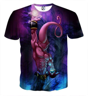 T Shirt 3D - T Shirt 3D All Over Dragon Ball Z Buu Destruction