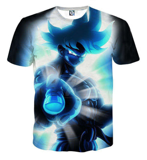 T Shirt 3D - T Shirt 3D All Over Dragon Ball Z Goku Power