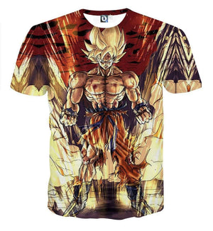 T Shirt 3D - T Shirt 3D All Over Dragon Ball Z Goku Super Saiyan