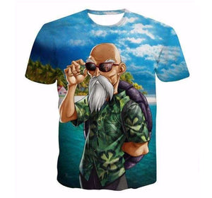 T Shirt 3D - T Shirt 3D All Over Dragon Ball Z Kame Sennin