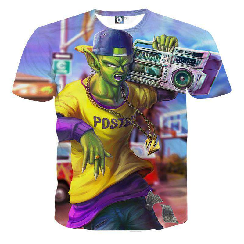 T Shirt 3D - T Shirt 3D All Over Dragon Ball Z Nameksejin Street Style