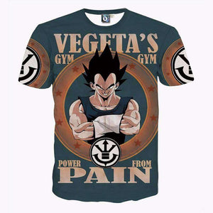T Shirt 3D - T Shirt 3D All Over Dragon Ball Z Vegeta's Pain