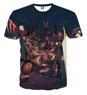 T Shirt 3D - T Shirt All Over 3D Naruto Akatsuki