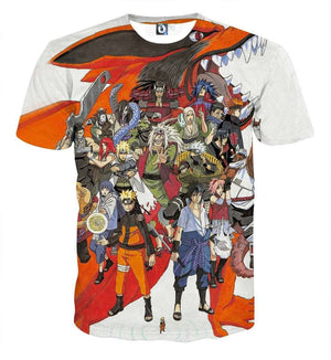 T Shirt 3D - T Shirt All Over 3D Naruto Characters