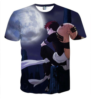 T Shirt 3D - T Shirt All Over 3D Naruto Gaara Moon