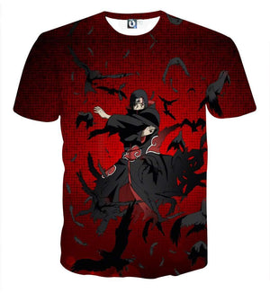 T Shirt 3D - T Shirt All Over 3D Naruto Itachi Genjutsu