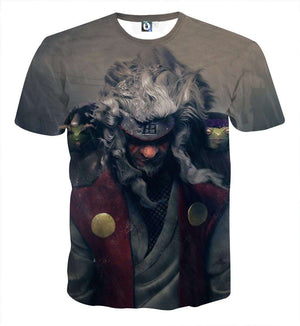 T Shirt 3D - T Shirt All Over 3D Naruto Jiraiya Hermit Mode